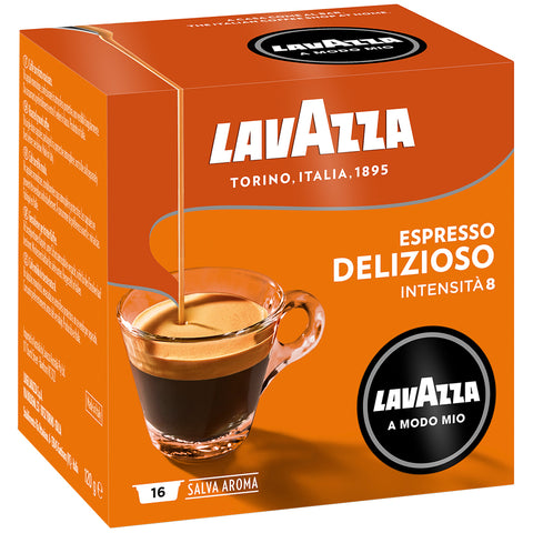 Image of Lavazza A Modo Mio Delizioso Coffee Capsules 6x16pk + $10 Lavazza Jolie Coffee Capsule Machine