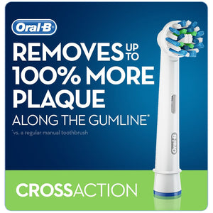 Oral B Precision Clean & Cross Action, Electric Toothbrush Heads, 10pk