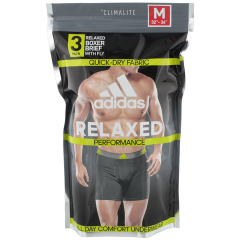 Image of Adidas Men's Boxers Black 3pk