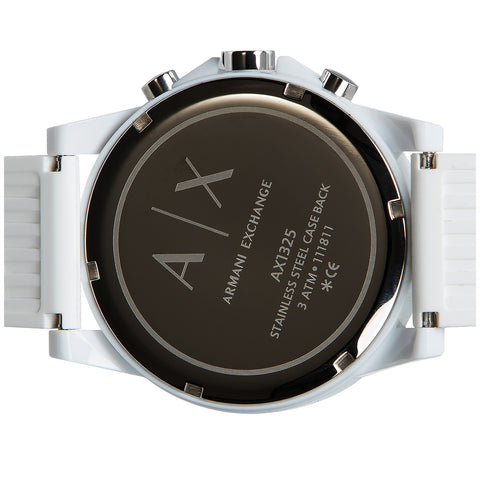 Armani Exchange White Nylon with Silicone Strap Men's Watch AX1325