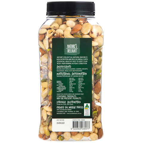 Image of Nature's Delight All Natural Raw Nut Mix 1.25Kg