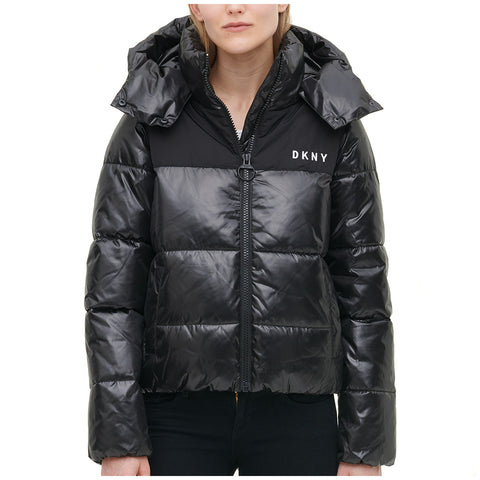 Image of DKNY Women's Sports High Shine Puffer Jacket