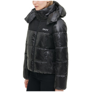 DKNY Women's Sports High Shine Puffer Jacket