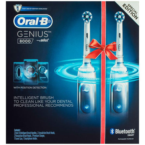 Oral B GENIUS 8000 Electric Toothbrush, 2 Handles