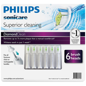 Philips Sonicare Diamond Clean Electric Toothbrush Heads 6pk