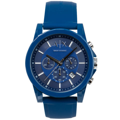 Armani Exchange Men's Blue Chronograph Quartz Watch AX1327