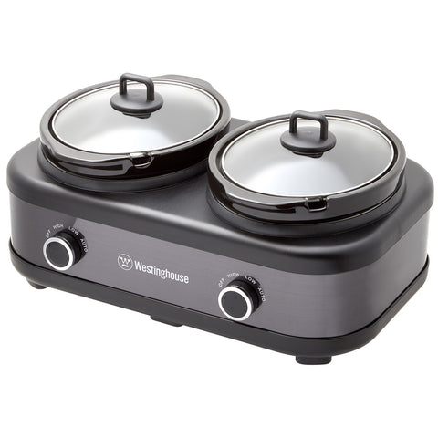 Image of Westinghouse Slow Cooker with Auto Function 2 x 2.5L WHSC06KS