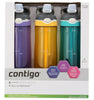 Contigo Autospout Straw Ashland Water Bottle, 709ml, 3pk