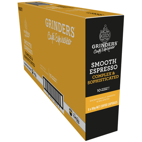 Image of Grinders Caffitaly Smooth Espresso Capsules, 80pk (8 x 80g)