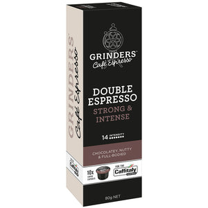 Grinders Caffitaly Double Espresso Capsules, 80pk (8 x 80g)