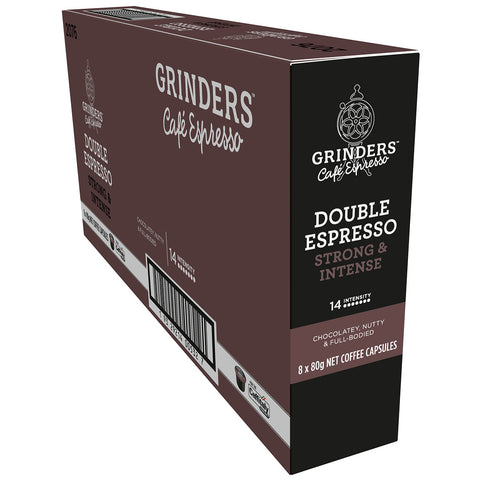 Image of Grinders Caffitaly Double Espresso Capsules, 80pk (8 x 80g)