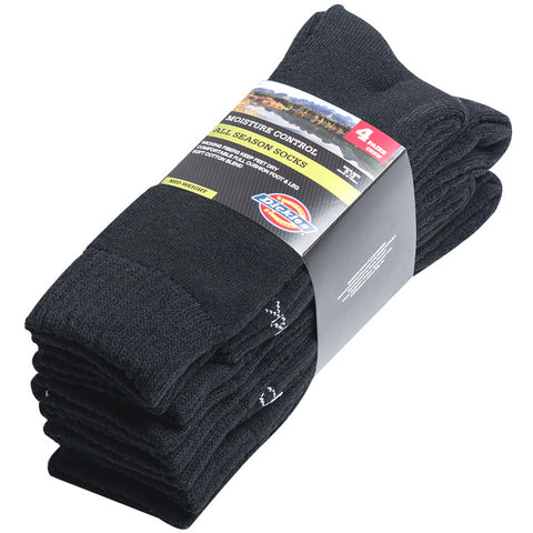 Dickies Men's Socks 4pk Black