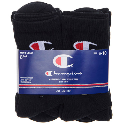 Champion Men's Crew Socks 8pk