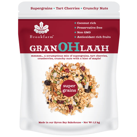 Brookfarm Supergrains Granohlaah Cranberries & Tart Cherries 1.3Kg x 2