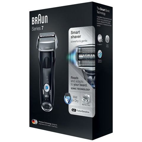 Braun Series 7 Wet & Dry Electric Shaver Set, plus Travel Case, 7840S