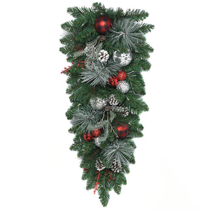 Decorated LED Christmas Swag 81.28cm