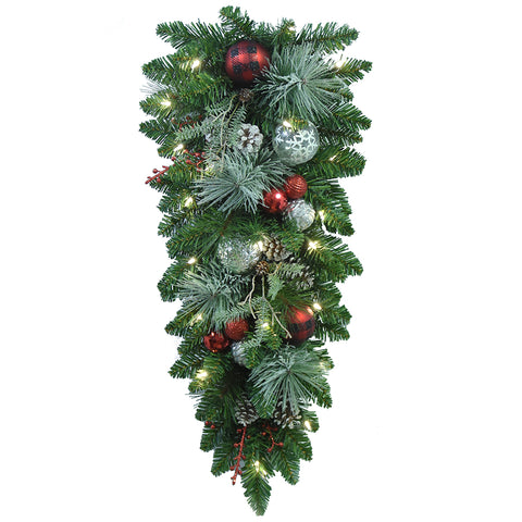 Image of Decorated LED Christmas Swag 81.28cm