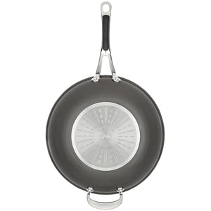 Jamie Oliver Premium Hard Anodised Induction Wokpan, 30cm, H9028844