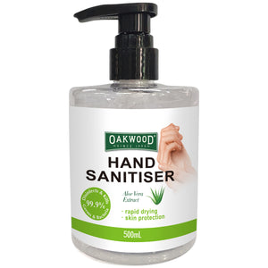 Oakwood Hand Sanitiser 500ml 8pk