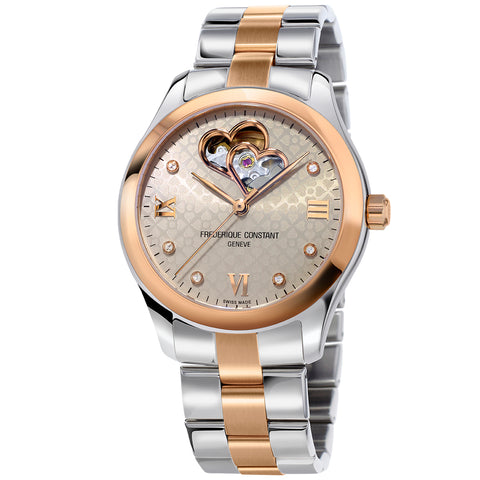 Frederique Constant Women's Double Heart Beat Watch FC-310LGDHB3B2B