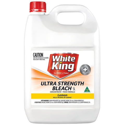 White King Ultra Concentrate Bleach 5L Lemon