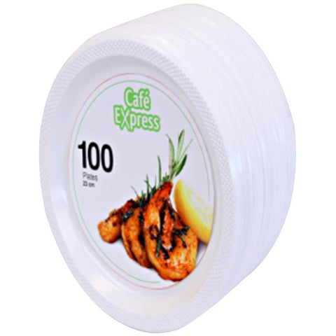 Cafe Express Plastic Plates 100 pack