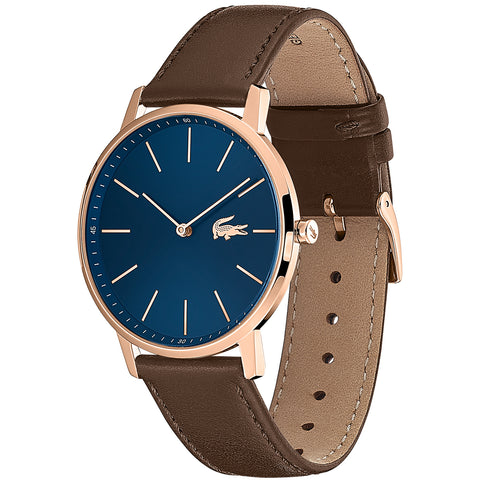 Image of Lacoste Moon Brown Leather Mens Watch 2011018