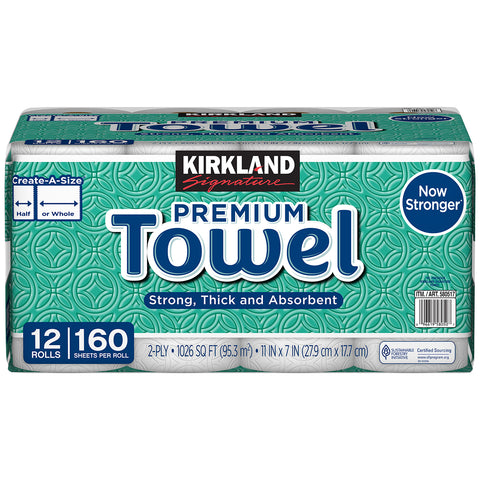 Kirkland Signature Paper Towel Create a Size 12 x 160 sheets