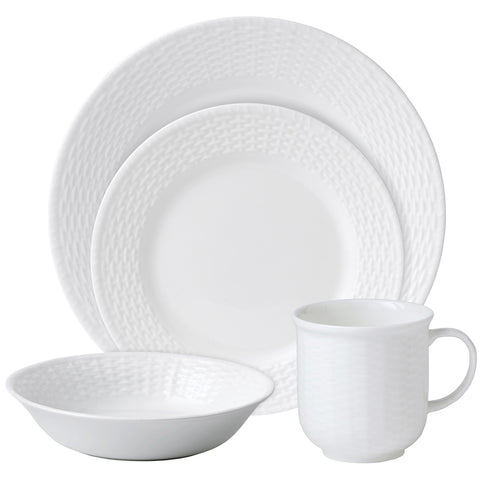 Wedgwood Nantucket Dinner Set, White, 16pc