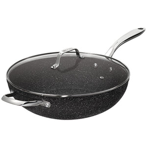 Starfrit The Rock Wok with Glass Lid 32cm