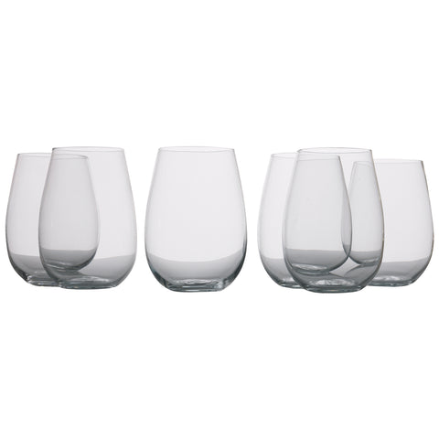 Maxwell & Williams Mansion Stemless Wine Glasses, 6pc