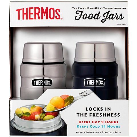 Thermos Stainless King 470ml Food Jar 2pk