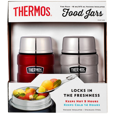 Image of Thermos Stainless King 470ml Food Jar 2pk