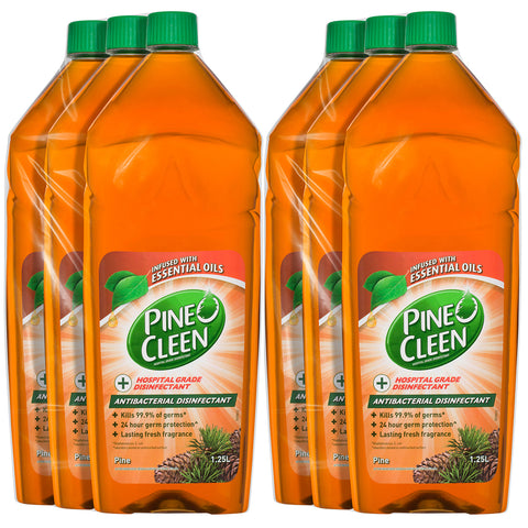 Pine O Cleen Antibacterial Disinfectant Liquid Pine 6 x 1.25L