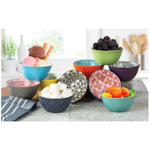 Image of Signature Homewares Printed Bowls 10pk