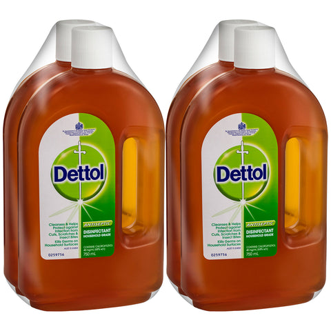 Dettol Antiseptic & Disinfectant Liquid 4 x 750ml