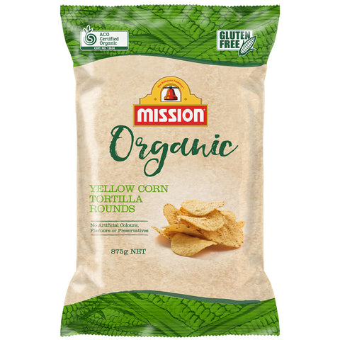 Mission Organic Tortilla Rounds 3 x 875g