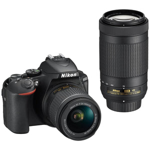 Nikon D5600 TLK DSLR Twin VR Lens Camera, 18-55mm & 70-300mm Lens, 859501