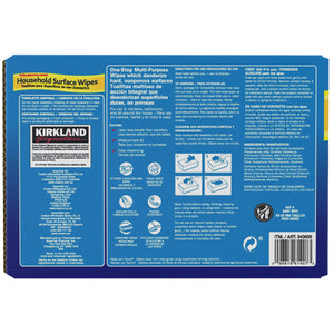 Kirkland Signature Surface Wipes 4 Pack, 304 Wipes