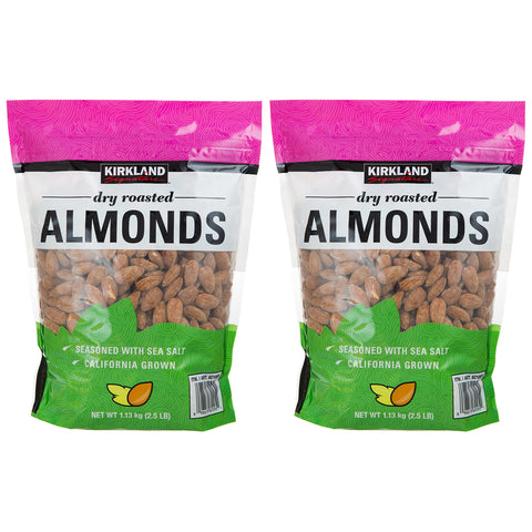 Image of Kirkland Signature Dry Roasted Almonds 1.13Kg x 2