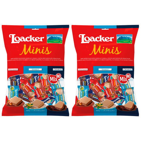 Image of Loacker Minis Crispy Wafers 800g x 2