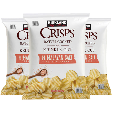 Image of Kirkland Signature Krinkle Cut Crisps 3 x 907g