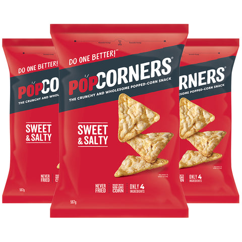 Image of Popcorners Sweet & Salty Corn Chip 3 x 567g