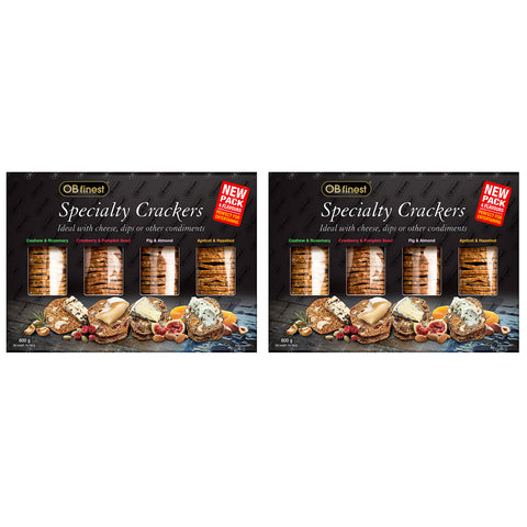 OB Finest Specialty Crackers 2 x 4 x 150g