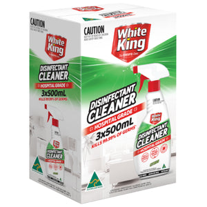 White King Disinfectant Cleaner Spray 6 x 500ml