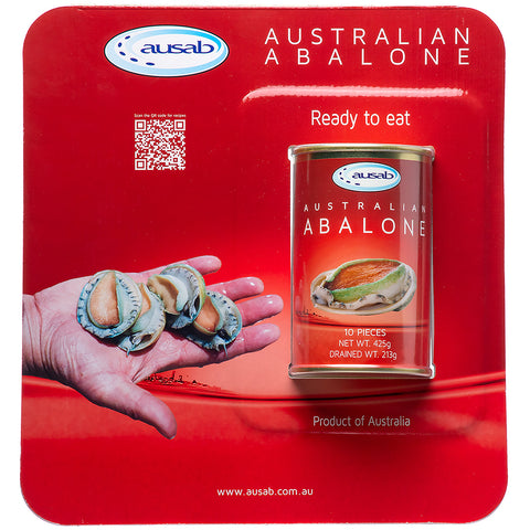 Image of Ausab Australian Abalone Canned 425g, 10pc