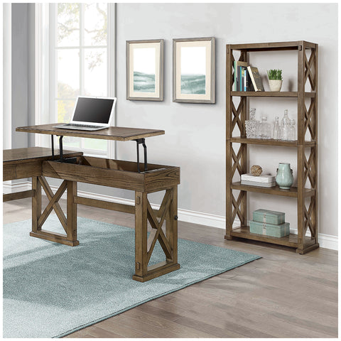 Bayside Furnishings Bookcase with 5 Fixed Shelves