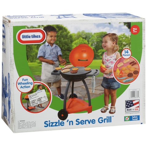 Image of Little Tikes Sizzle & Serve Grill BBQ Set
