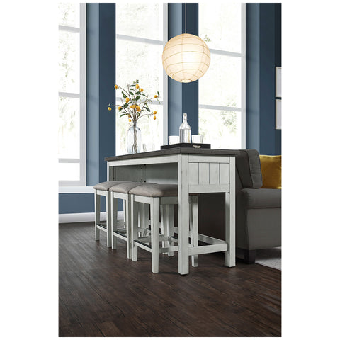 Bayside Furnishings 4pc Sofa Table Set, Rubberwood, Oak and Birch Veneer, W 172.8 x D 50.8 x L 87 cm