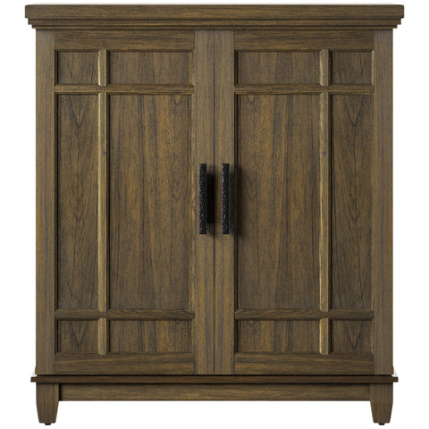 Image of Tresanti Bar Cabinet, L 104 x W 65 x H 117 cm, Solidwood & Veneer, Brown, BC34128-QM374